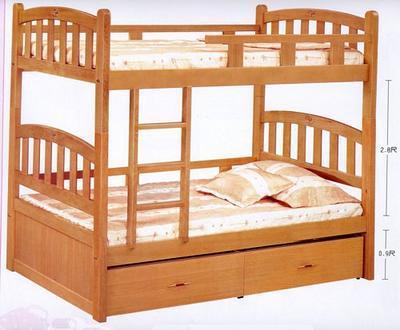 双层床简笔画大图 - 免费图片下载
